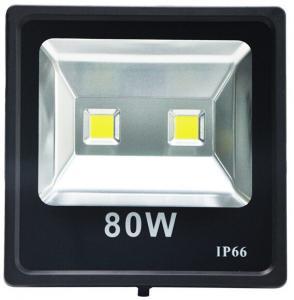 Quality 130lm/w IP65 80W LED Flood Light Fixture 4000K/5000K 175 Watt MH Equivalent for sale