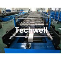 Best Roofing Wall Panel Cold Roll Forming Machine For Forming Thickness 0.3-0.8mm , 18 Stations Roller Stands wholesale