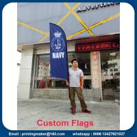 Quality Outdoor Custom Blade Feather Flags With Ground Spike for sale