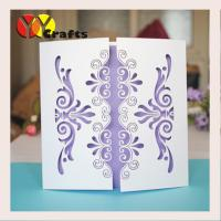 Wedding blessing invitation cards white color with laser cutting