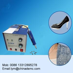 China ultrasonic rhinestone hot fix machine drilling rig t shirt garment printing heat press heat transfer machine on sale