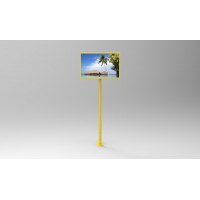 "Quality Metal Frame 27"" 1920x1080 400cd/m2 Lcd Digital Signage 350MHz for sale"