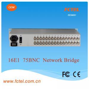 Quality good quality with 75/120ohm16E1 network bridge Protocol Media Converter for sale