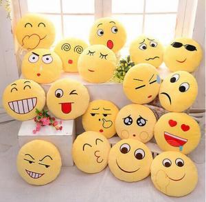 Quality 2016 Cute 32cm*32cm Pillow Yellow Super Creative Plush Emoji Pillow for sale