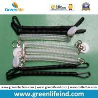 Quality Chinese Factory Wholesale Black Clear Spring Coiled Keychain Leash for sale