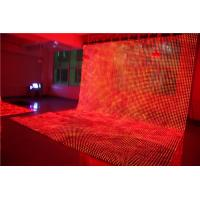 Waterproof Soft LED Screen , Led Mesh Flexible Curtain Screen For Concert Background