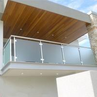 Quality safety and durable high quality balcony railing design glass supplier for sale