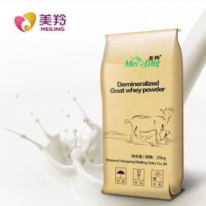 Quality D90 Grade 25kg Edible Grafde desalted Goat Milk Whey Powder for sale
