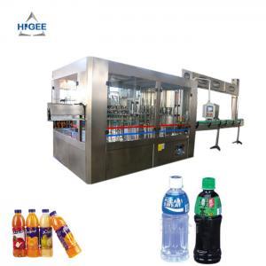 Quality 3 In 1 Bottling Juice Equipment Hot Filling 2000 Bph For 500 Ml Heavy Duty for sale