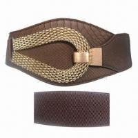 China Wide Fashionable Ladies' Stretch Belts, OEM and ODM Orders Accepted on sale