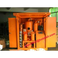 Quality Insulation Oil Filtration Plant, Double Stage Vacuum Transformer Oil Filter Machine PLC weather-proof for sale
