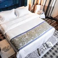 China New design jacquard 100% cotton bed sheets 5 star hotel bed linen duvet cover set on sale