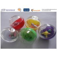 Quality Colorful egg type Small Plastic Capsules , Custom Plastic Toys for Children for sale