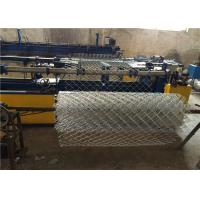 High Zinc Coated 200g / SQM Galvanized Chain Link Fencing 50mm for Residential