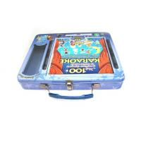 Quality Rectangulard DVD tin with handle for sale