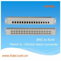 Quality 16 Channels 75 Ohm BNC To 120 Ohm RJ45 E1 Impedance Balun Converter for sale