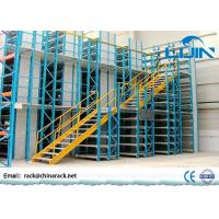 Workshop Multi - Layer Powder Coating Rack Supported Mezzanine Floor With Walkways
