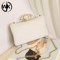 Quality Pearl Decorative dinner clutch bag  Effect Bride fashion evening bag For ladies elegant wholesale clutch bags China for sale