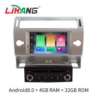 Quality Silver 2 Din C4 Citroen Car Stereo GPS Navigation With Rear Camera for sale