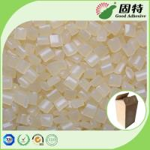 Buy cheap EVA Hot Melt Glue Pellets , Yellow Granule Hotmelts Adhesive Glue for carton from wholesalers