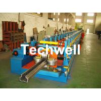 Quality 2.0-3.0mm Heavy Duty Upright Racking / Shelf Roll Forming Machine With JH21-80 Ton Press Machine To Punch Holes for sale