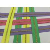 Quality Metal Ykk Sewing Notions Zippers ,  Pink / Green / Purple Tape 9 Inch Separating Zipper for sale