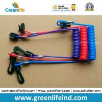 Quality Hot Selling Plastic Spring String and Cotton Core Safety Hand Motor Switch Lanyard for sale