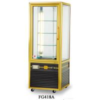 Quality 418L Fan Cooling Single Temperature Refrigerated Cake Display Cabinets All - Sides Glass Aluminium Frame for sale