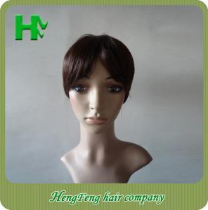 China 12 Inch Real Natural Human Hair Wigs Kinky Straight Tangle Free on sale