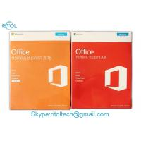 China Microsoft Office Home And Business 2016 FPP , Microsoft Office Home & Business 2016 Retail Key Genuine Sealed Box on sale