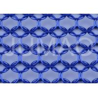 Quality Architectural Metal Ring Curtain , Dark Blue Sun Rot Proof Ring Mesh Curtain for sale