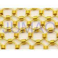 Quality Shopping Mall Chainmail Mesh Fabric , Colorful Iron Curtains With Metal Rings for sale