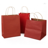 China Biodegradable 16x6x12 Inches Foldable Paper Bag on sale