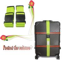 China Custom Logo Heavy Duty Luggage Straps With Name ID Label 1/2/4 Pack on sale