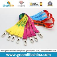 Quality ID Card Accessories Fashionable Full Colors Custom Heat Tranferred Printing Polyester Lanyards for sale