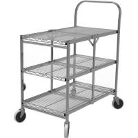 Quality Collapsible Wire Rolling Cart For Kichen 290lbs Max Load Weight for sale