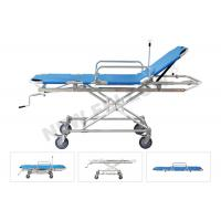 Quality High Strength Aluminum Alloy Detachable , Height Adjustable Patient Stretcher Trolley for sale