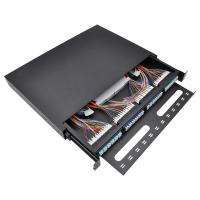 Quality OTB 12 24 36 48 96 Core Fiber Optic Sliding Patch Panel Powder Coated Interface for sale