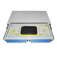 Quality 19'' rack mounted OTB ODB 12 24 port SC connector pigtail Fiber Optic Patch Panel for sale