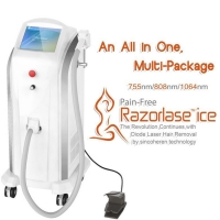 Quality Sincoheren Razorlase Hair Removal laser,Diode hair remnoval ,similar soprano ice lightsheer for sale