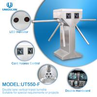 Quality Double Lane SS304 Vertical Tripod Turnstile Gate for sale