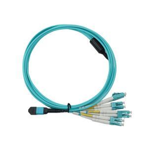 Quality Duplex LC Connector FTTX 5m MPO Breakout Patch Cord LSZH for sale