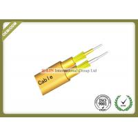 China Flat Twin Duplex Indoor Fiber Optic Cable With Inner Outer Sheath For Telecommunication on sale