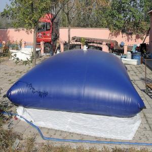China Water Storage Bladder Tanks Waterproof PVC Tarpaulin Anti - Static Treatment on sale