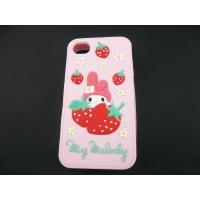 Best Fashion design strawberry custom silicone case / silicon cell phone covers, any pantone color for choice wholesale