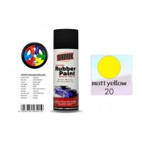 China Higher Adhesive Removable Rubber Spray Paint , Matt Yellow Color Auto Spray Paint on sale
