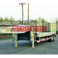 Quality 40 T 2 Axle Low Bed Semi Trailer High Strength Steel Material 8 Pcs Tyre for sale