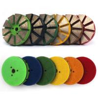 China Round Concrete Diamond Floor Pads , Metal Polishing Pad For Marble Floor on sale