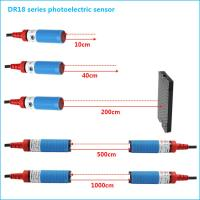 Quality NPN NO M18 Cylindrical Photoelectric Beam Detector Through Beam Optical Switches for sale