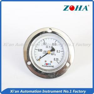 Plating Air Compressor Pressure Gauge , Silver High Temp Pressure Gauge